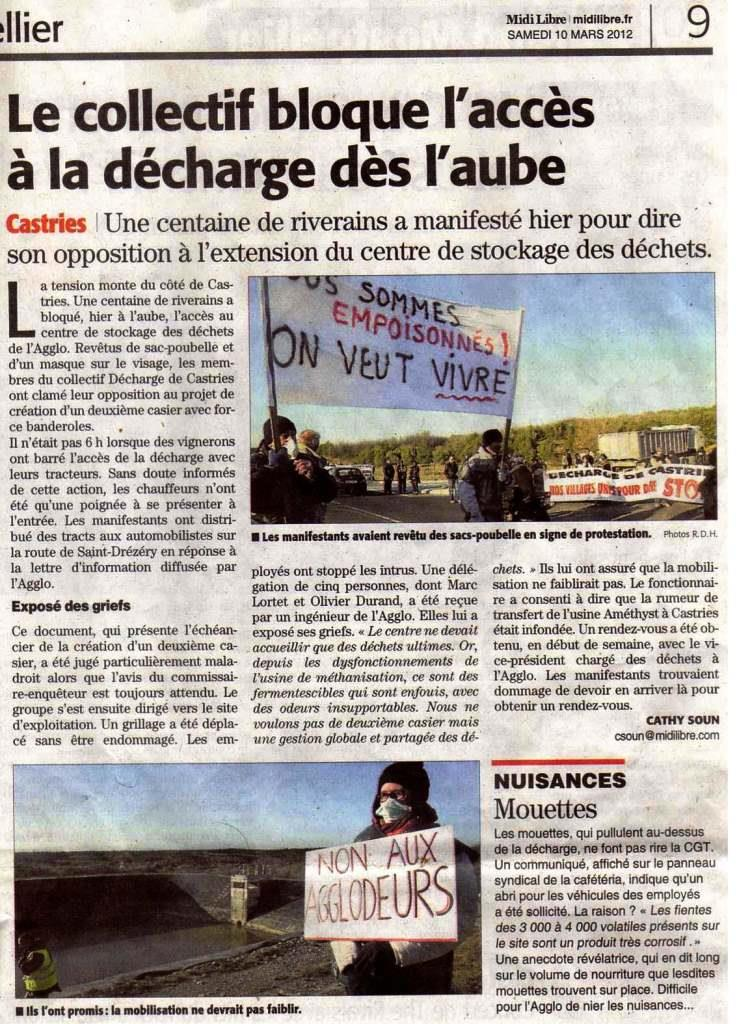 article midi libre du 9 mars